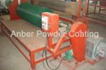 Recoiler for powder coated mesh